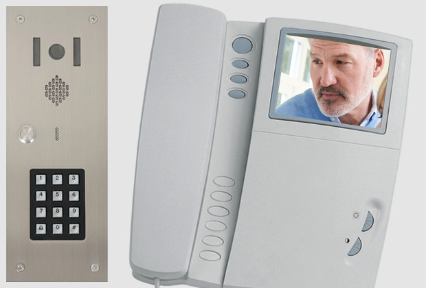 Entry phone systems simply allow speech between someone wanting to gain access through a controlled door and a person inside the building, who can then admit the caller by pressing a button.